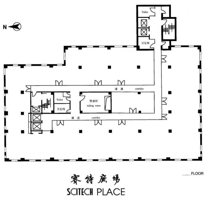 赛特大厦写字楼平面图